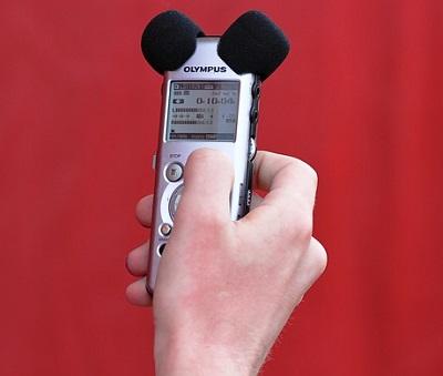 Portable sound recording device