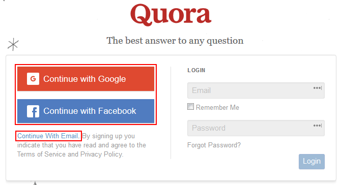 How to Sign Up for Quora | Step-by-Step Guide with Pictures