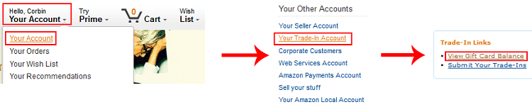 View credit applid to your Amazon account after trade-in