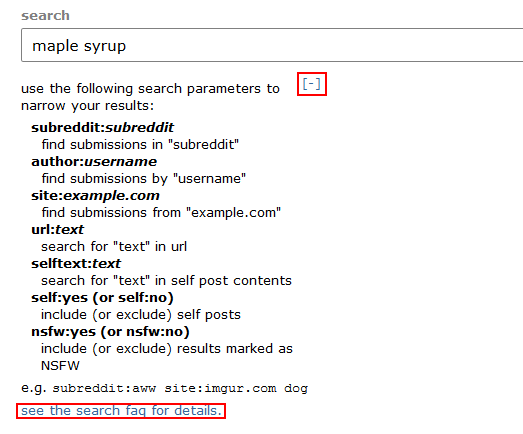 How to use advanced search functions on Reddit