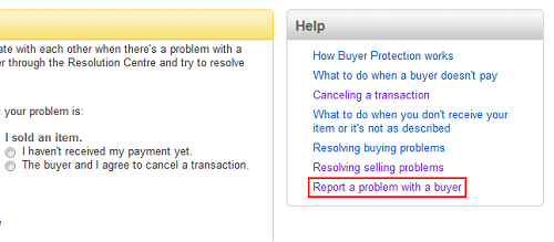 Report a problem with a buyer on eBay