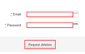 Request deletion of Wix account