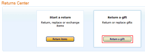 www amazon com returns gift