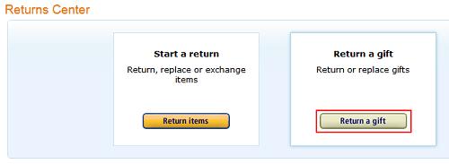 Return an Amazon gift