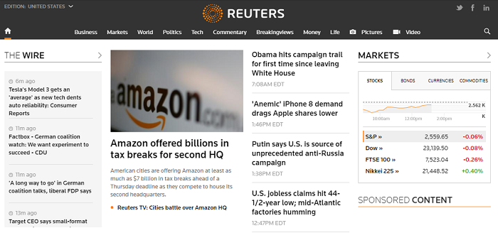 Reuters website