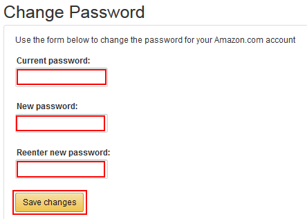 Save new Amazon password