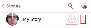 Save a Snapchat story