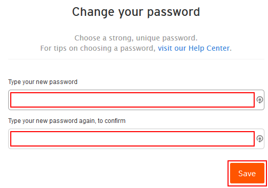 Form for resetting your SoundCloud password