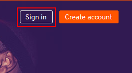 Button to sign into SoundCloud
