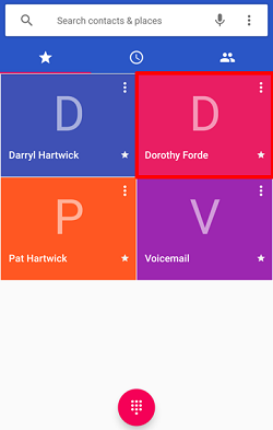 Search for contacts to add to call