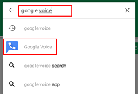 Search for Google Voice app