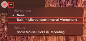 Choose audio input