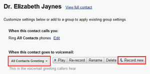 How to change your voicemail greeting on google voice select custom greeting for individuals m4hsunfo