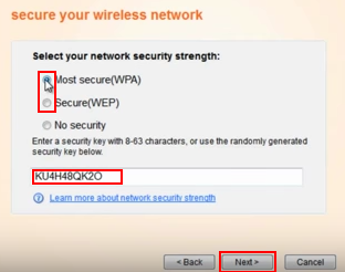 Setting up a password for your WiFi network