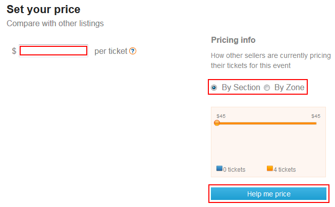 Set the prices for your StubHub tickets