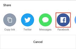 Facebook iOS app icon
