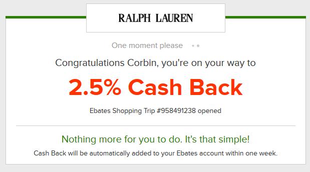 Starting your shopping through Ebates