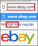 Sign into eBay account