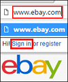 Sign into eBay account