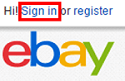 eBay Sign In button