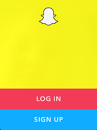 Snapchat home screen