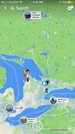 Snapchat map open