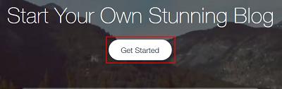 Begin building your website on Wix