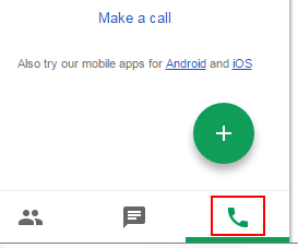 How to start a phone call in Google Hangouts