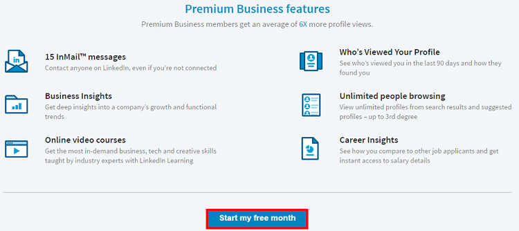 Start LinkedIn free trial