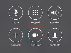Switch call to FaceTime button