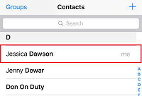 Choose a contact to call