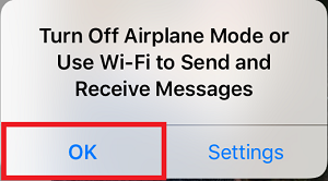 Accept Airplane Mode setting