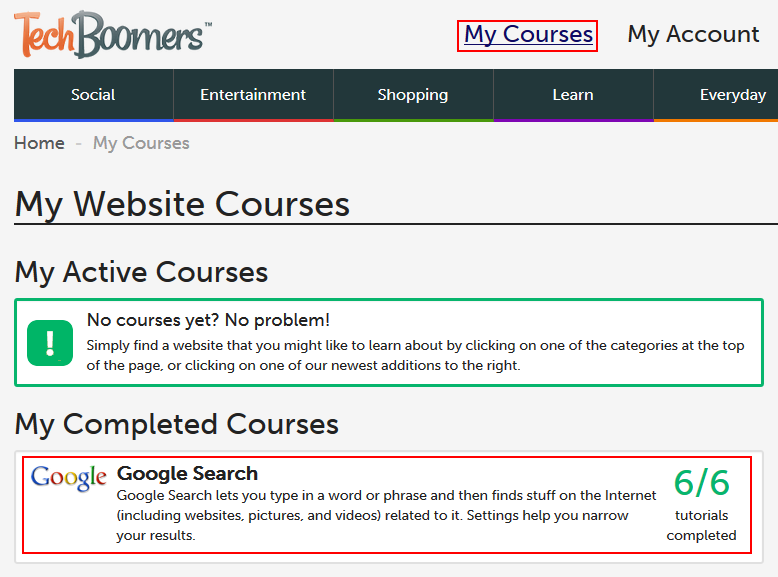 List of completed Techboomers courses