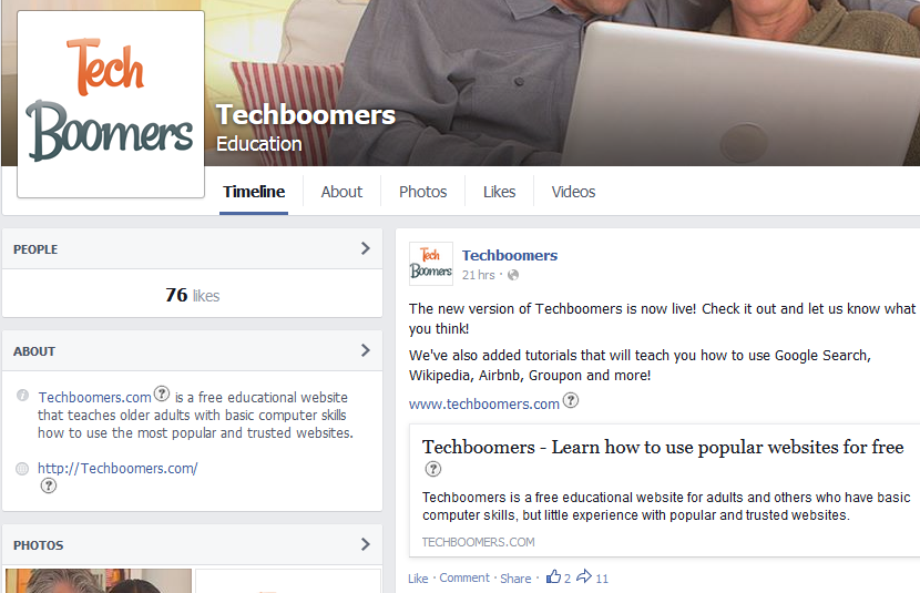 Techboomers Facebook page