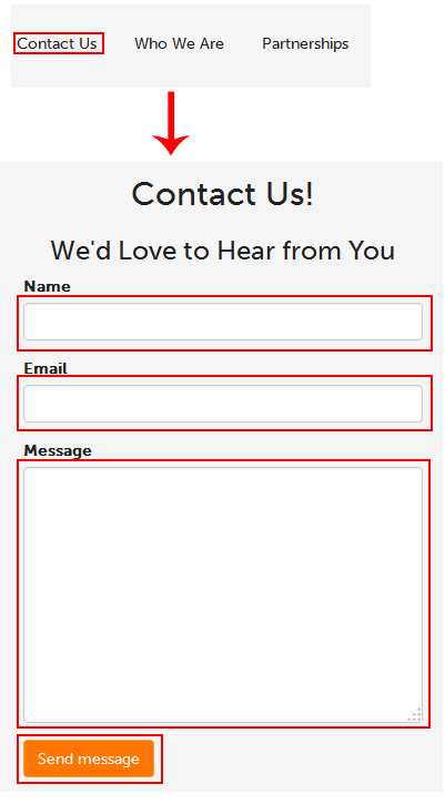 Techboomers contact form