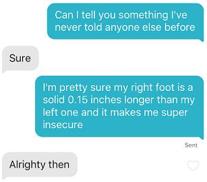 Bad Tinder opening line