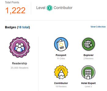 TripAdvisor contributor badges