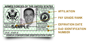 Uniformed Service ID card