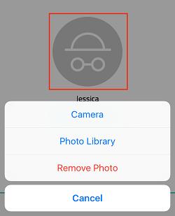 Upload profile image