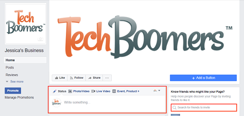 Start using your completed Facebook page for business