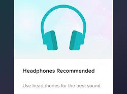 Headphone warning