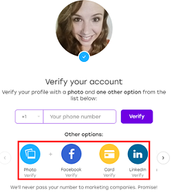 Badoo profile verification options