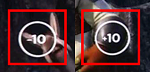 Click the -10 to skip back 10 seconds and the +10 to skip ahead 10 seconds