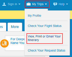 View Priceline itinerary