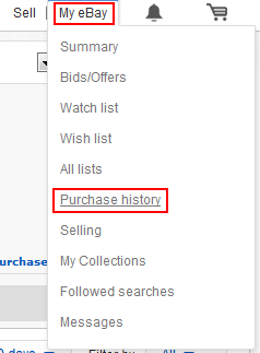 How to view your Purchase History