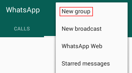 Creating a new WhatsApp group