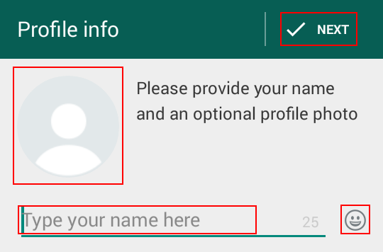 Creating your WhatsApp profile