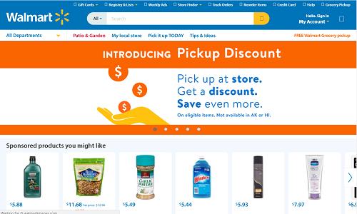 Walmart homepage