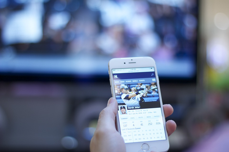 Sports on a smartphone device