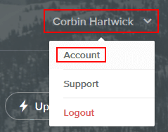 Going to your Weebly account settings